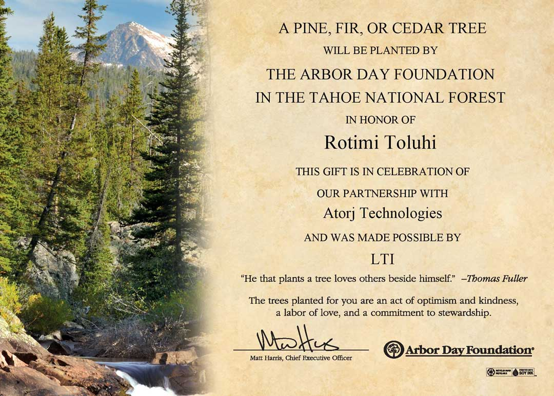 Arbor-Day Foundation Tree-Planting-Certificate